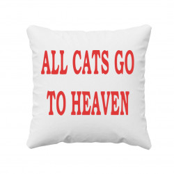 All cats go to heaven - poduszka z nadrukiem