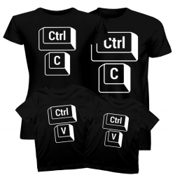 Ctrl+C Ctrl+V - komplet koszulek dla rodziny