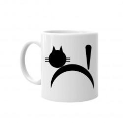 Kot - kubek ceramiczny z nadrukiem