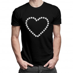 Koszulka z sercem v.2 - damska lub męska koszulka z nadrukiem