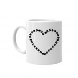Serce v.2 - kubek ceramiczny z nadrukiem