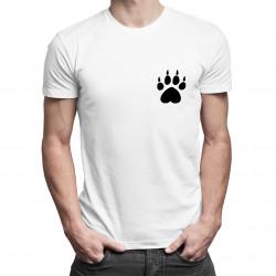 Łapka 2 - damska lub męska koszulka z nadrukiem