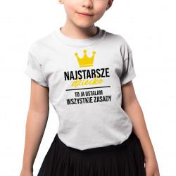 Najstarsze dziecko - koszulka dziecięca z nadrukiem