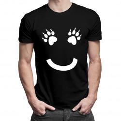 Uśmiech - damska lub męska koszulka z nadrukiem