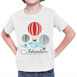 Adventure around the world - dziecięca koszulka z nadrukiem