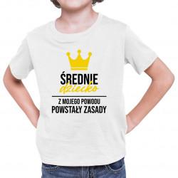 Średnie dziecko - koszulka dziecięca z nadrukiem