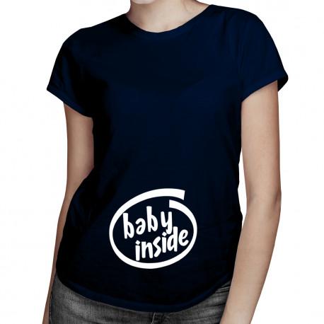 Baby inside! - damska koszulka z nadrukiem