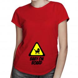 Baby on board - damska koszulka z nadrukiem