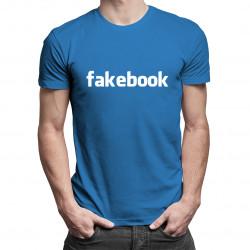 Fakebook - męska koszulka z nadrukiem