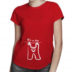 It's a boy - damska koszulka z nadrukiem