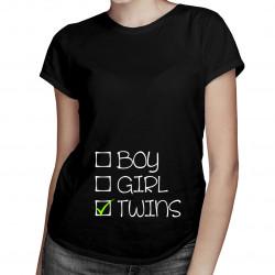 Twins - damska koszulka z nadrukiem