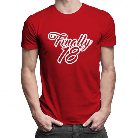 Finally 18 - męska koszulka z nadrukiem
