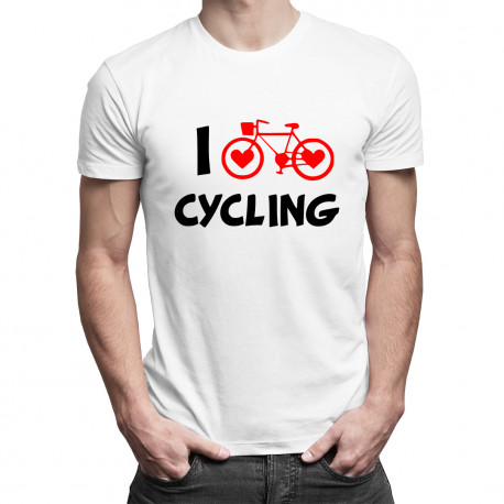 I love cycling -męska koszulka z nadrukiem