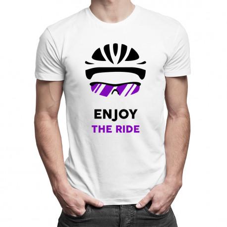 Enjoy the ride - męska koszulka z nadrukiem