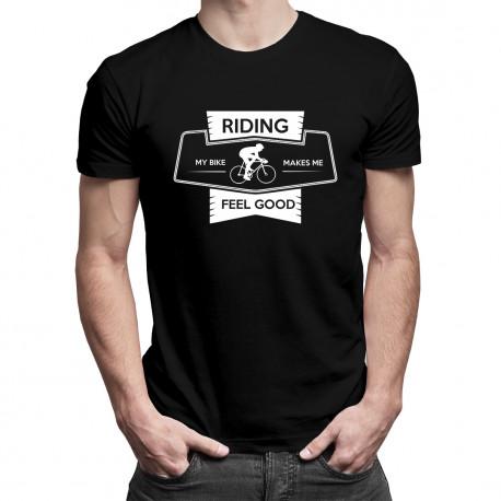 Riding my bike - damska lub męska koszulka z nadrukiem