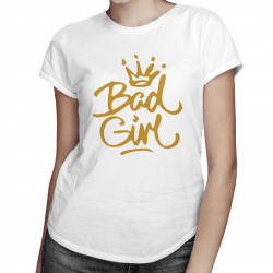 Bad girl - damska koszulka z nadrukiem