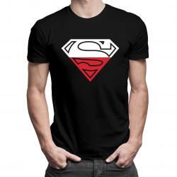 Polski Superman - męska koszulka z nadrukiem