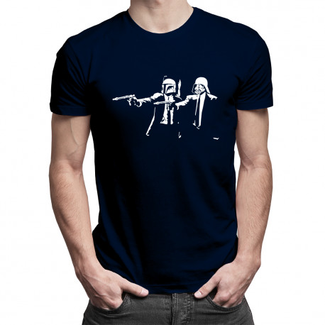 Star Wars vs. Pulp Fiction - męska koszulka z nadrukiem