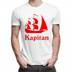 Kapitan - męska koszulka z nadrukiem