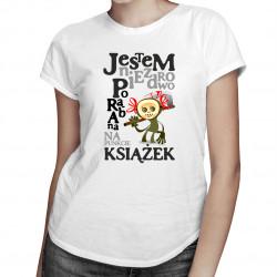 Jestem niezdrowo porąbana na punkcie książek - damska koszulka z nadrukiem