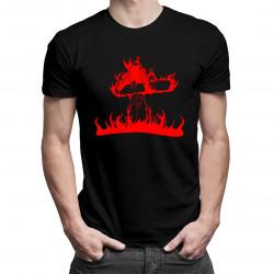 Flame snowboarder - damska lub męska koszulka z nadrukiem