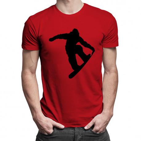 Snowboarder - męska koszulka z nadrukiem
