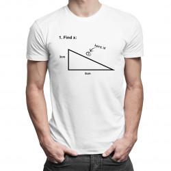 Find X - męska koszulka z nadrukiem