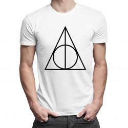 Deathly Hallows - męska koszulka z nadrukiem