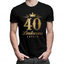 40 lat - limitowana edycja - damska lub męska koszulka z nadrukiem