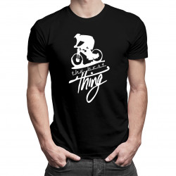Downhill – the best thing - męska koszulka z nadrukiem