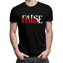 True False - męska koszulka z nadrukiem