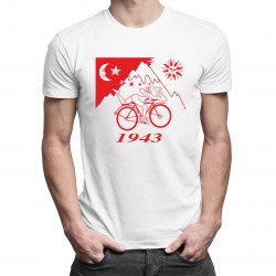 LSD Albert Hofman - męska koszulka z nadrukiem