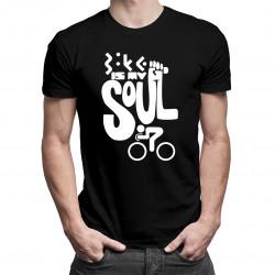 Bike is my soul - damska lub męska koszulka z nadrukiem