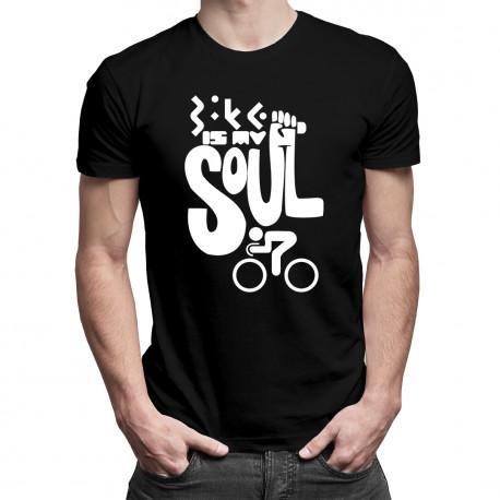 Bike is my soul - męska koszulka z nadrukiem