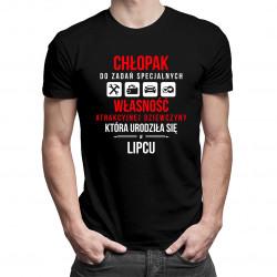 Chłopak do zadań specjalnych - lipiec - męska koszulka z nadrukiem