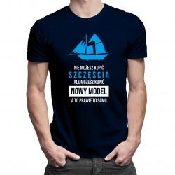 Nie możesz kupić szczęścia, ale możesz kupić nowy model, a to prawie to samo - męska koszulka z nadrukiem