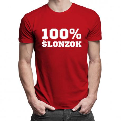100% ŚLONZOK - męska koszulka z nadrukiem