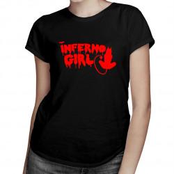 Inferno Girl - damska koszulka z nadrukiem