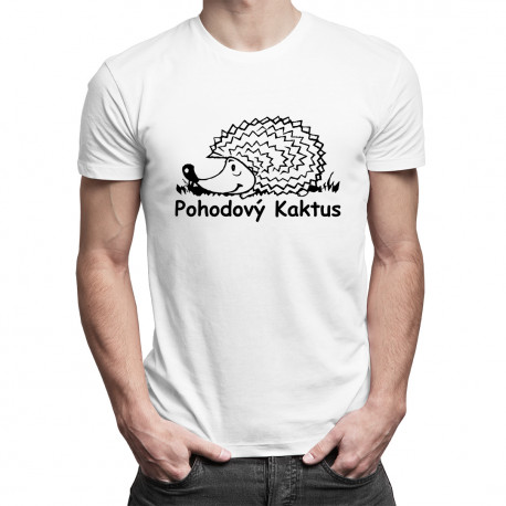 Pohodový kaktus - męska koszulka z nadrukiem