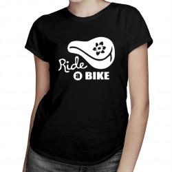 Ride a bike – lady style - damska koszulka z nadrukiem