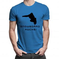Snowboard Rocks! - męska koszulka z nadrukiem