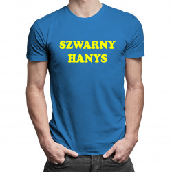 Szwarny hanys - męska koszulka z nadrukiem