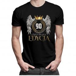 Limitowana edycja 90 lat - męska lub damska koszulka z nadrukiem