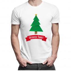 Wesołych świąt - damska lub męska koszulka z nadrukiem