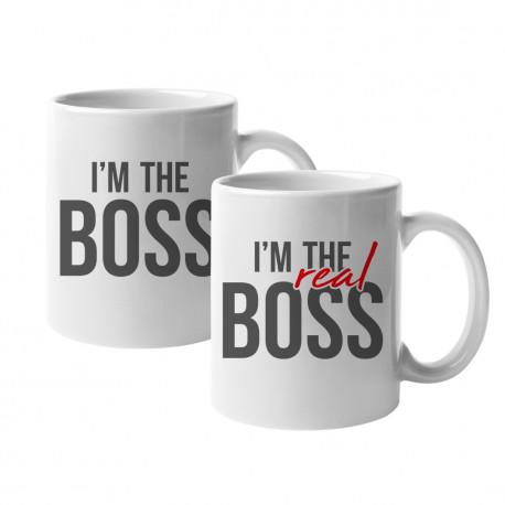 Kubki I'm the boss - I'm the real boss - kubki ceramiczne z nadrukiem