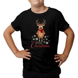 Merry Christmas -reniferek - koszulka dziecięca z nadrukiem