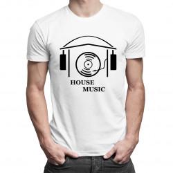 House Music - męska koszulka z nadrukiem