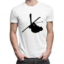 Narciarz Freestyle - męska i damska koszulka z nadrukiem