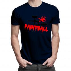 Paintball gun - męska koszulka z nadrukiem