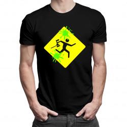 Paintball gra - męska i damska koszulka z nadrukiem